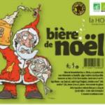 Une des étiquette bière de noel